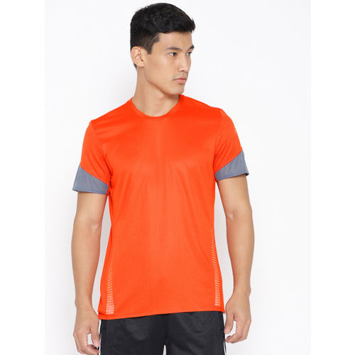 ADIDAS Men Orange 25/7 Rise Up N Run Parley T-shirt