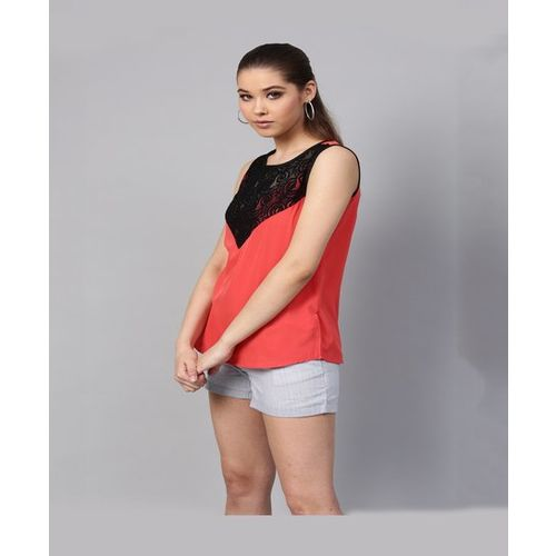 Street 9 Coral Lace Top