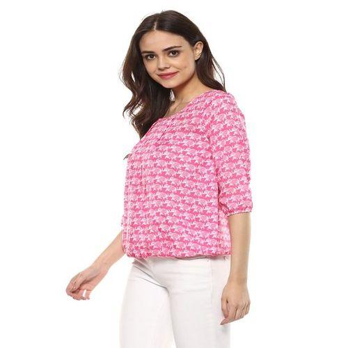 Mayra Pink Printed Top