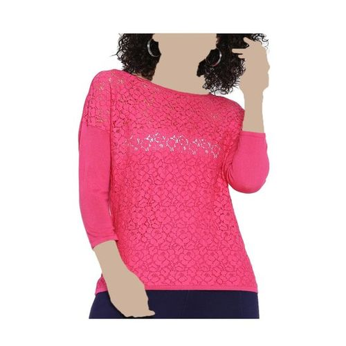 United Colors of Benetton Pink Lace Top
