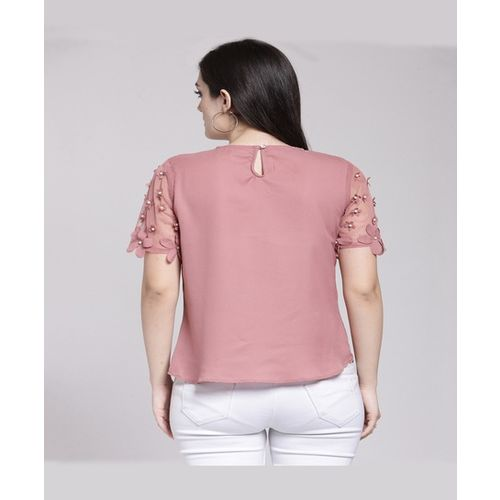 PlusS Pink Embellished Top