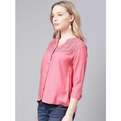 NUSH Pink Embroidered Top