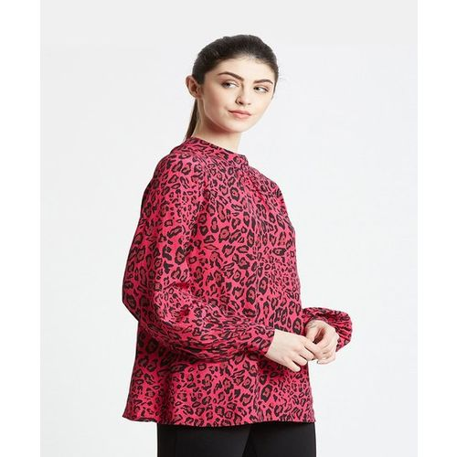 Cover Story Pink Animal Print Top