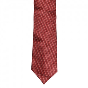 Louis Philippe Red Printed Broad Tie