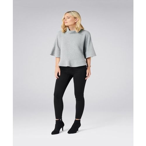 Forever New Grey Textured Top