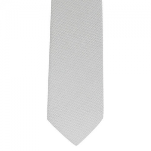 The Tie Hub Silver-Toned Solid Skinny Tie