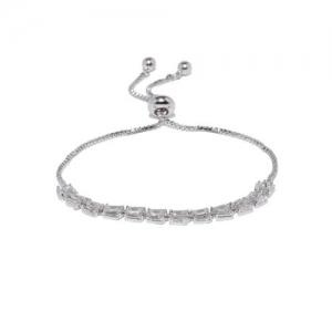 Amavi Silver-Toned Charm Bracelet