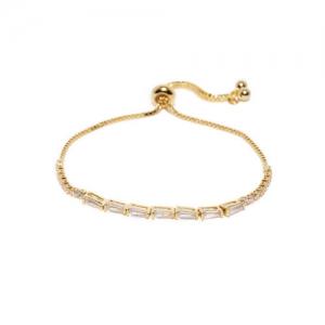 Amavi Gold-Toned Alloy Cubic Zirconia Charm Bracelet