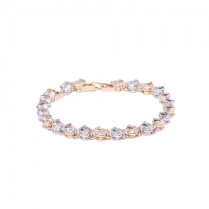 Amavi Gold-Toned CZ Stone-studded Charm Bracelet