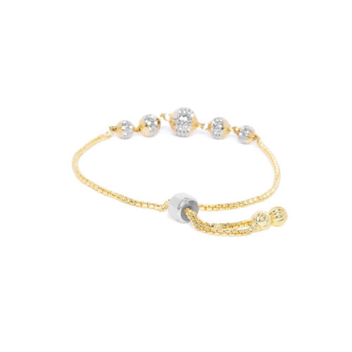 Mahi Gold-Toned Alloy Gold-Plated Wraparound Bracelet