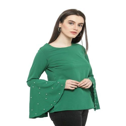 Plus S PlusS Green Bell Sleeves Top