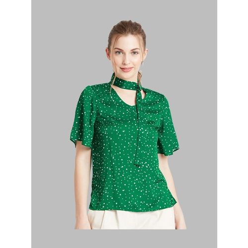 Cover Story Green Printed Top
