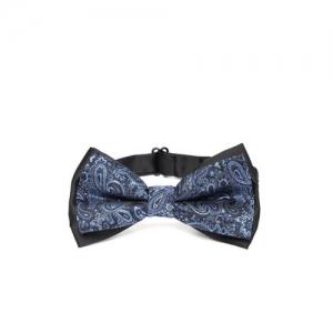 Peter England Men Blue Woven Design Bow Tie