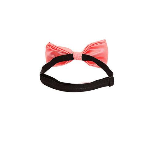 Blacksmith Peach-Coloured Solid Bow Tie