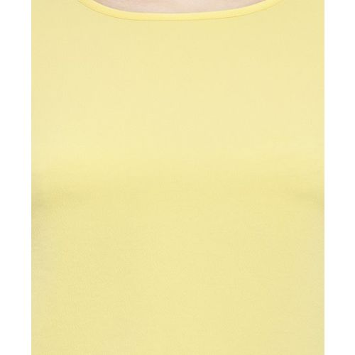 Plus S PlusS Yellow Bell Sleeves Top