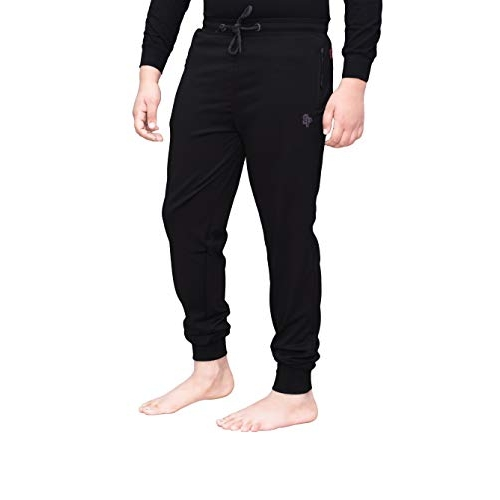 Sapper Black Polyester Dry fit Track Pants