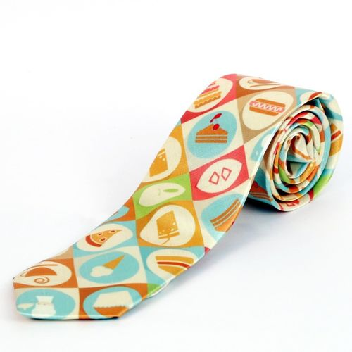 Blacksmith Aromatic Breakfast Design Graphic Print Men Tie