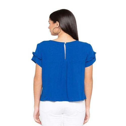 Globus Royal Blue Short Sleeves Top