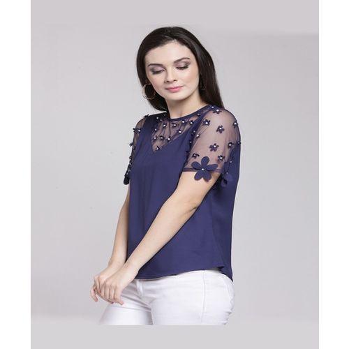 PlusS Blue Embellished Top
