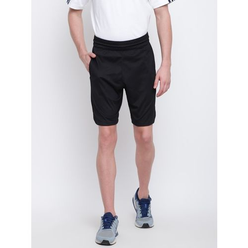 ADIDAS Men Black Solid Accelerate 3-Stripes Sports Shorts