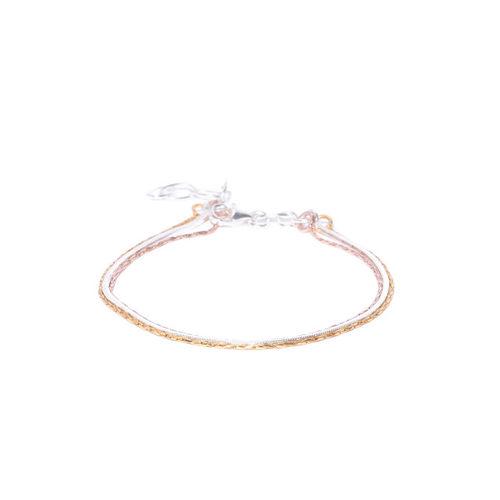 Carlton London Silver-Toned Gold-Plated Multistrand Bracelet