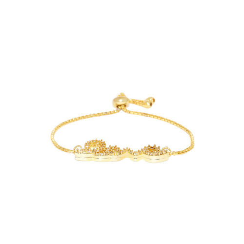 Pipa Bella Women Gold-Toned Gold-Plated Charm Bracelet