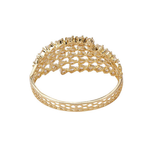 Priyaasi Gold-Plated Brass Handcrafted Bangle-Style Bracelet