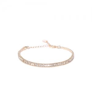 Accessorize Gold-Toned Stone-Studded Link Bracelet