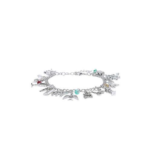 EFG Silver-Toned Alloy Charm Bracelet