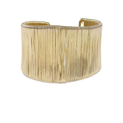 Ayesha Gold-Toned Metal Cuff Bracelet
