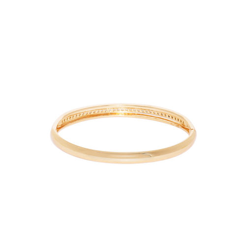 ChicMela Gold-Plated Stone Studded Handcrafted Cuff Bracelet