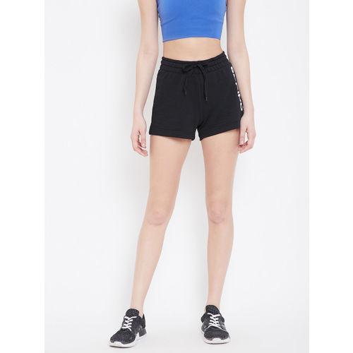 ADIDAS Women Black Solid Essential Linear Sports Shorts