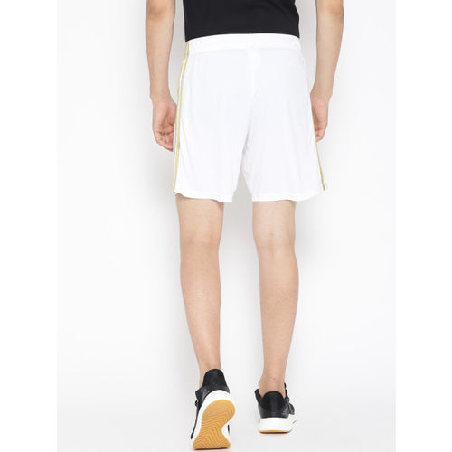 ADIDAS Men White Solid Real Madrid Home Football Sports Shorts