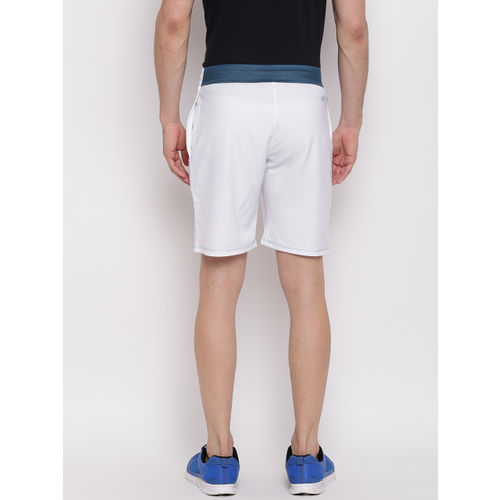 ADIDAS Men White Solid Tennis Sports Shorts
