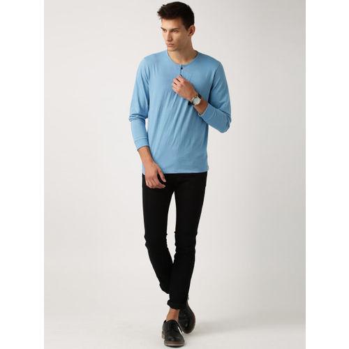 ETHER Blue Henley T-shirt