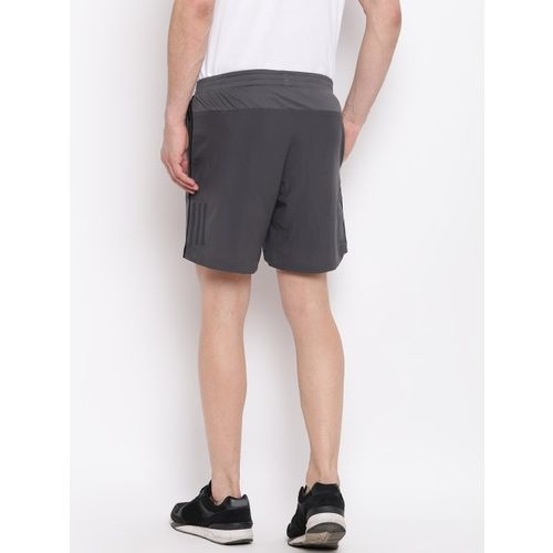 ADIDAS Men Charcoal Grey Solid Own The Run Sports Shorts