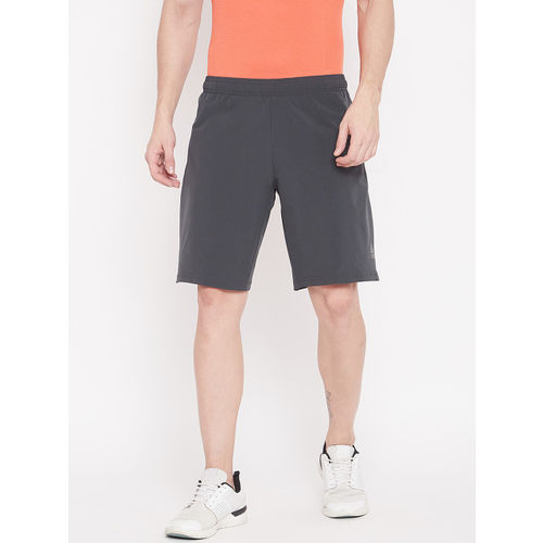 ADIDAS Men Charcoal Grey Solid 4Krft Elevated Training Shorts