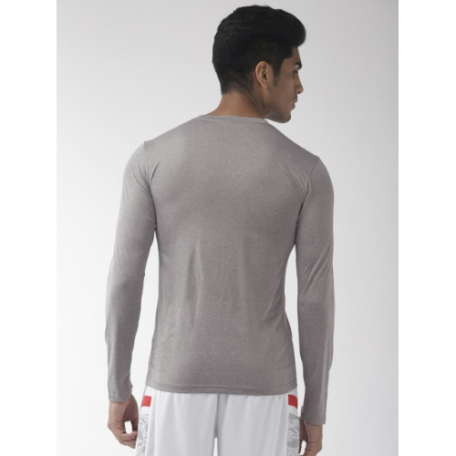 Nike Men Grey Standard Fit AS M NK DRY TEE LS LEG 2.0 DRI-FIT Solid Round Neck T-shirt