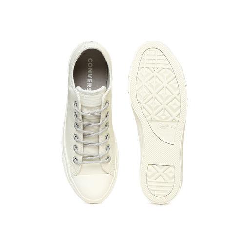 Converse Unisex Cream-Coloured Sneakers