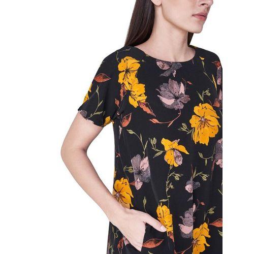 AND Black Floral Print Dress