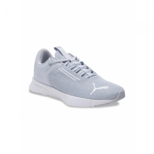 Puma Grey Mesh Mid-Top Flyer Modern Grey Dawn-Puma White-Puma Running Shoes