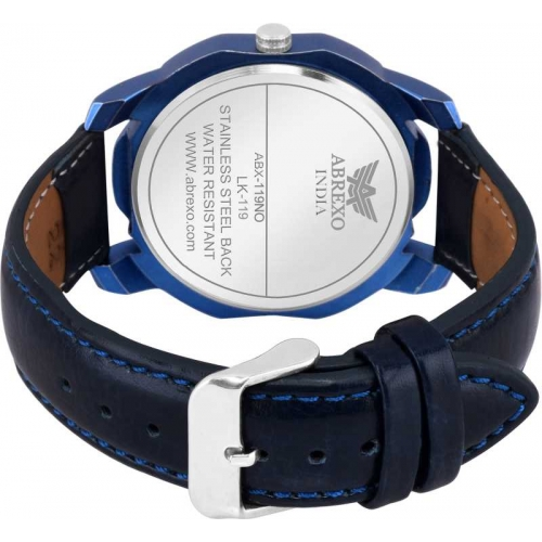 Abrexo Abx7050-BL BLUE Day & Date Feature Smart Analog Watch