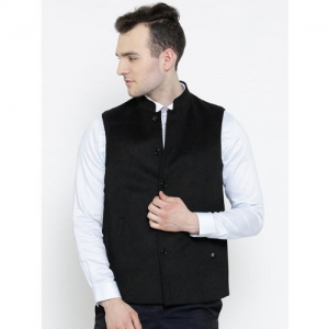 Blackberrys Black Woollen Nehru Jacket