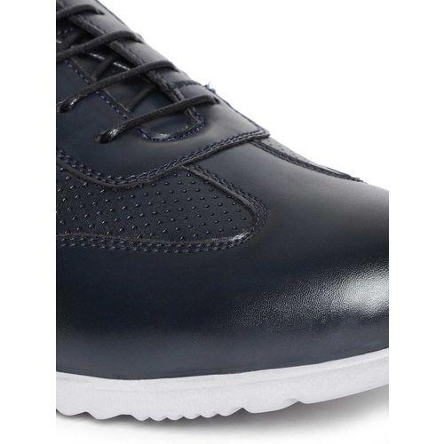 Duke Men Navy Blue Perforated Sneakers