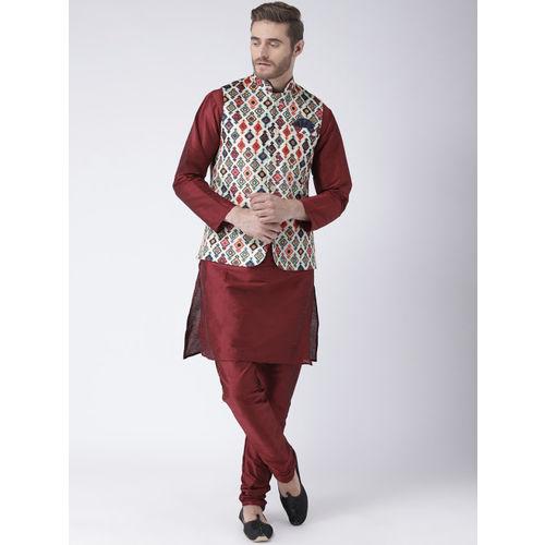 Hangup Men Multicoloured Printed Nehru Jacket