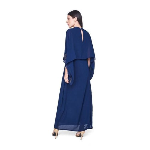 AND Navy Embellished Maxi Dress