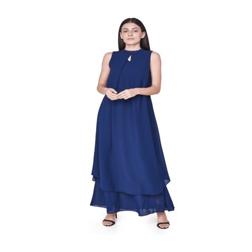AND Navy Maxi Gown
