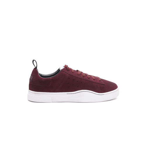 DIESEL Men Burgundy Suede Sneakers