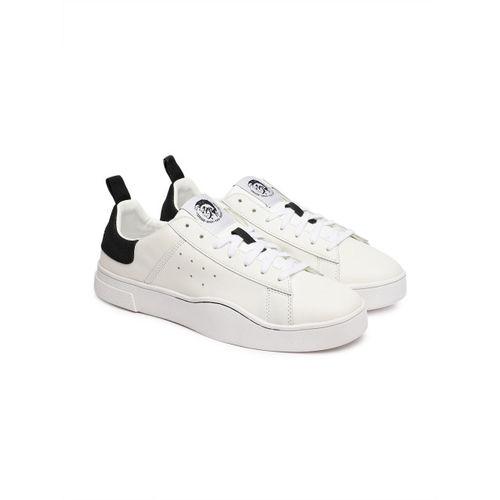 Buy DIESEL Men White Leather Sneakers