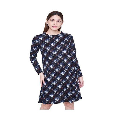 AND Multicolor Checks Knee Length Dress